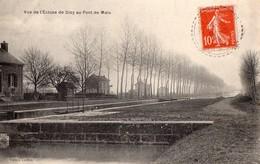 CPA  RARE -  51 - DIZY - Vue De L'Ecluse De DIZY Au Pont De Malo - Other Municipalities