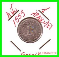 GRECIA -  GREECE  MONEDA  --  DE  1  DRACHMA  AÑO 1959   -   Copper-Nickel, 20,8 Mm. - Grecia