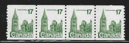 CANADA 1979 7990** COIL 4 STAMPS CAT VALUE US $0.75 - 1952-.... Reign Of Elizabeth II