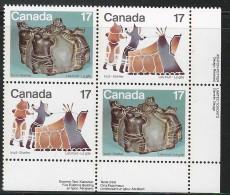 CANADA 1979 835-836** 1 CORNER BLOCK CAT VALUE US $1.75 - 1952-.... Elizabeth II