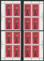 CANADA 1979 SCOTT 841** 4 CORNER BLOCKS CAT VALUE US $12.00 - 1952-.... Reign Of Elizabeth II