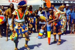 Atilogwu Dancers - Estern Nigeria - Formato Grande Viaggiata Mancante Di Affrancatura – E1 - Nigeria