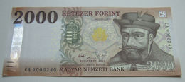 % Banknote - Hungary - 2000 HUF - 2016 UNC - CA900 - NEW In Hungary - Issued In March Of 2017 - Hungary