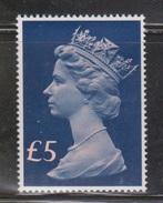 GREAT BRITAIN - Scott # MH 176 Mint Never Hinged  - QEII 5 Pound Machin Head - 1952-.... (Elizabeth II)