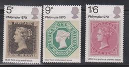 GREAT BRITAIN - Scott # 642-4 Mint Hinged  - QEII Philympia Exhibition Issue - 1952-.... (Elizabeth II)