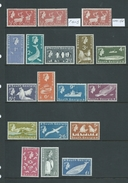 South Georgia 1963 QEII Definitive Set 16 To Both 1 Pound Values With Extras MLH - South Georgia