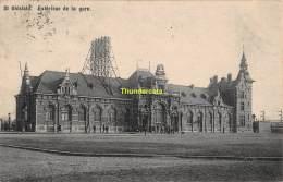 CPA SAINT GHISLAIN EXTERIEUR DE LA GARE - Saint-Ghislain