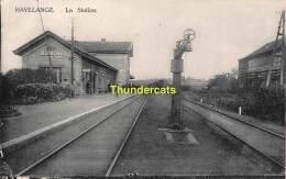 CPA  HAVELANGE LA STATION TRAIN - Havelange