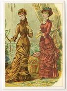 """Mode-1978--carte Double Publicitaire """"Damart """" -Florilège De La Mode -carte Belge--jolies Robes Début 20° Siècle - Mode"""
