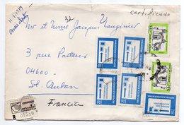 Argentine--1979--Lettre Recommandée N° 01580  Pour  Saint AUBAN -04-(France)--Composition De Timbres -cachet - Argentine