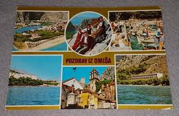 OMIŠ, ALMISSA, CROATIA- COLLAGE ORIGINAL OLD POSTCARD - Serbia
