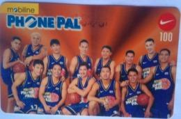 Philippines Phonecard Mobiline 100 Pesos Reload Card Phonepals Basketball Team