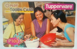 Philippines Phonecard PLDT Touch Card 100 Pesos Tupperware MINT