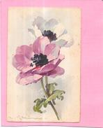 CPA   COLORISEE FANTAISIE - FLEURS  - ENCH0616   - - Fleurs