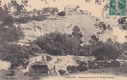 13-----RARE---LAMANON----grottes Et Rochers Du Village De SARRAZIN---voir 2 Scans - Autres Communes