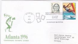 USA Cover P/m Atlanta GA 1996 Olympic Summer Games - Olymphilex 96 Station (T12-27) - Summer 1996: Atlanta