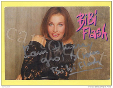 CP BIBI FLASH Carte Dédicacée Carte Trés Peu Courante - Autographes