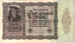ALLEMAGNE   50,000 Mark   19/11/1922   P. 80 - [ 3] 1918-1933 : República De Weimar