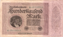 ALLEMAGNE   100,000 Mark   1/2/1923   P. 83a - [ 3] 1918-1933 : República De Weimar
