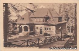 Ansichtskarte Baden-Baden Bahnhof Auf Dem Merkur C1923 - Baden-Baden