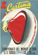 CORTINA CAMPIONATI DEL MONDO DI BOB 1960 ANNULLO 1^ GIORNATA - Cartes Postales