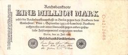 ALLEMAGNE   1 Million Mark   (Uniface)   25/7/1923   P. 94 - [ 3] 1918-1933 : Weimar Republic