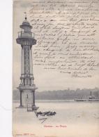 """Genève - Le Phare (bateau à Vapeur """"Dauphin"""" à L'arrière Plan) Circulé 1907 - GE Genève"""
