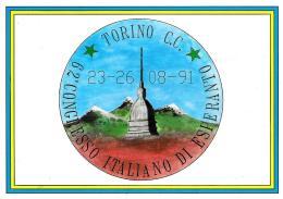 [MD0752] CPM - TORINO - CONGRESSO ITALIANO DI ESPERANTO - CON ANNULLO 24.8.1991 - NV - Italia