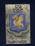 Ancien Insigne émaillé -- Flotille Amphibie Indochine Nord Lot 1139 -  Ins1 - Marine