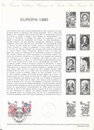 FRANCE 1980 - EUROPA - Document Officiel Timbres N°2085 & N°2086 (26.04.1980) - Europa-CEPT