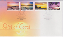 Cocos Islands - Keeling - FDC Mi 484-487 - Skies Of Cocos - Old West Island Jetty - Trannies Beach - Sunset - Yacht Club - Cocoseilanden