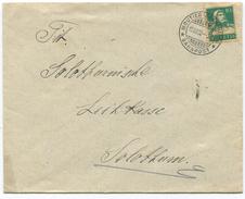 1594 - MOUTIER-SOLOTHURN BAHNPOST Stempel Auf Brief Nach Solothurn