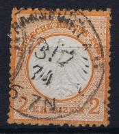 Deutsches Reich: Mi Nr 8 Gestempelt/used/obl. Kleiner Brustschild - Deutschland