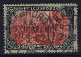 Deutsches Reich: Mi Nr 66 Type II Ohne Ohr. Used Obl. Reichspost  CDS Hamburg 21-03-02 - Deutschland