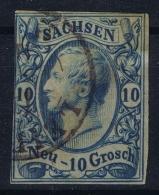 Sachsen Mi Nr 13 Used 1856 - Saxony