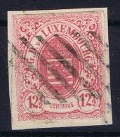 Luxembourg : Mi Nr 7  Used / Obl   On Fragment - 1859-1880 Wappen & Heraldik