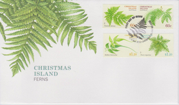 Christmas Island FDC Mi 725-728 - Christmas Island Ferns - 2012 - Christmaseiland
