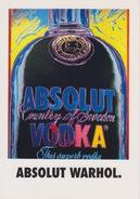 "CARTOLINA - SERIE ABSOLUT VODKA COLLECTION N° 9  - PROMOCARD 410 - ""ABSOLUT WARHOL"" - RARA!!! - Pubblicitari"