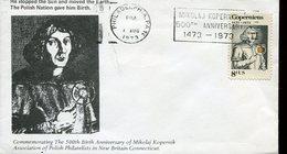 19751 U.s.a.special Cover With Special Postmark Philadelphia 500th Anniv.  Nicolas  Kopernikus, Copernic, Kopernika, - Astronomùia