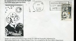 19752 U.s.a.special Cover With Special Postmark Detroit  500th Anniv.  Nicolas  Kopernikus, Copernic, Kopernika, - Astronomùia