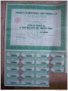 ACTIONS PRODUITS ALIMENTAIRES LOUIT FRERES BORDEAUX 1951 - Agriculture