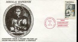 19754 U.s.a.special Cover With Special Postmark Buffalo 1973-  500th Anniv.  Nicolas  Kopernikus, Copernic, Kopernika, - Astronomùia
