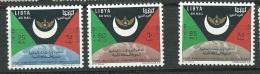 Libye Aérien  - Yvert N°  32 / 34 , 3 Valeurs **     -   Aab9617 - Libya