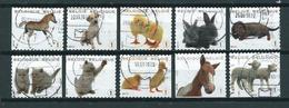 2010 Belgium Complete Set Dieren,animals,tiere Booklet Stamps Used/gebruikt/oblitere - België