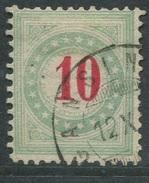 1599 - Portomarke 10 Rp. Hellblaugrünlich - Gestempelt - Portomarken