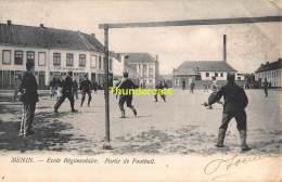 CPA MENEN MENIN ECOLE REGIMENTAIRE PARTIE DE FOOTBALL - Menen
