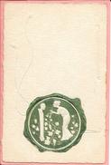 Carte Fantaisise Imitation Sceau Avec Médaillon Femme Avec Flute Papier Gaufré Fils Reliefs - Women