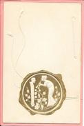 Carte Fantaisise Imitation Sceau Avec Médaillon Femme Avec Flute  Fils Reliefs - Women