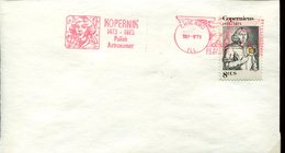19765 U.s.a.  Red Meter/ema/ 1973 Chicago -  500th Anniv.  Nicolas  Kopernikus, Copernic, Kopernika, - Astronomùia