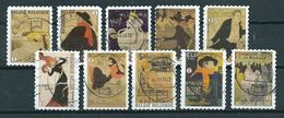 2011 Belgium Complete Set Toulouse-Lautrec,art,kunst Booklet Stamps Used/gebruikt/oblitere - Belgique